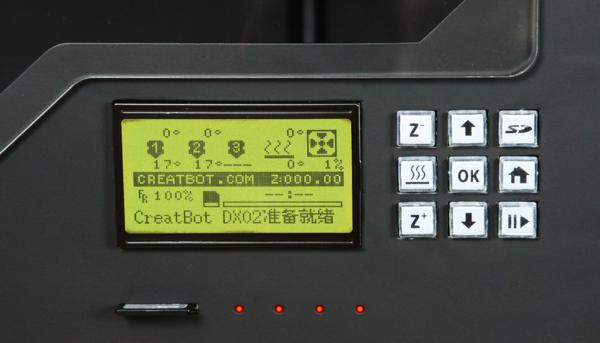 3Д принтер CreatBot DX Plus панель управління