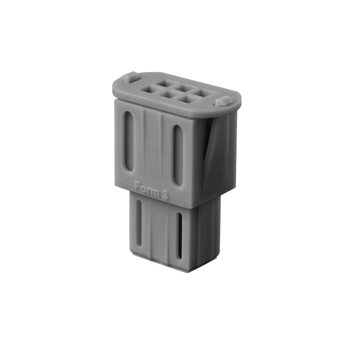 Образец детали из Grey Pro Resin - коннектор