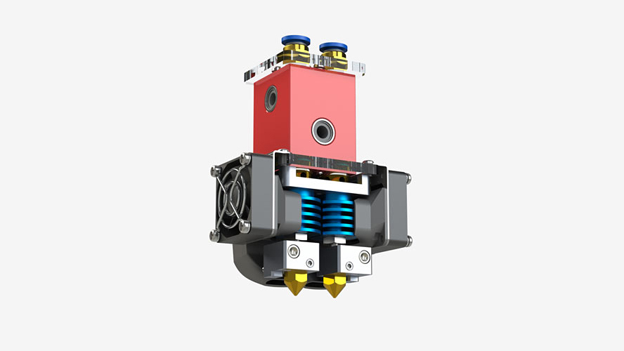 3D принтер CreatBot DX Plus екструдер