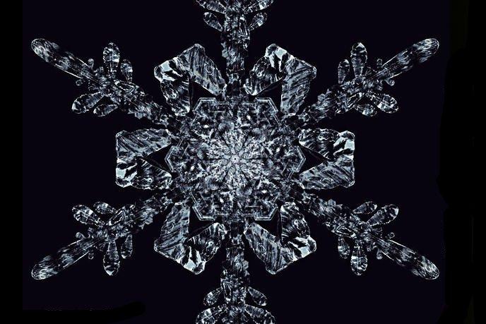 3D модель снежинки