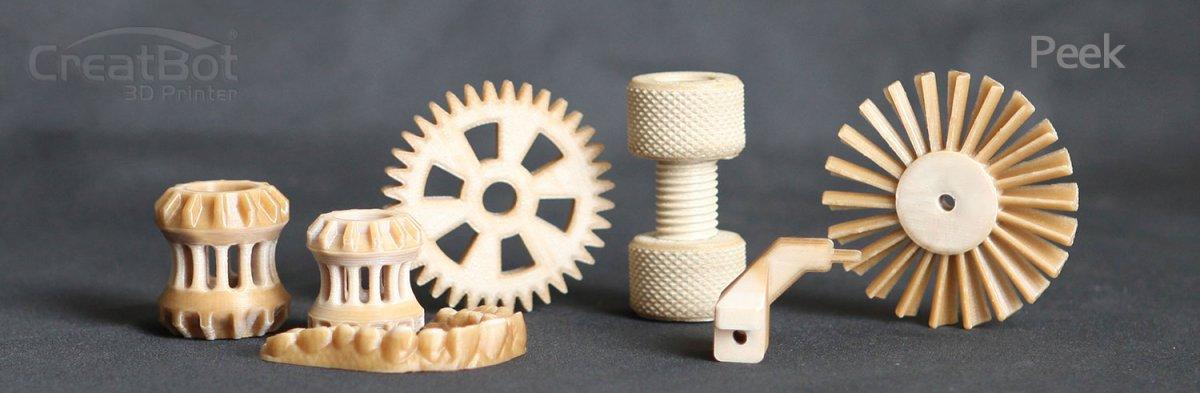 3D принтер CreatBot F160 изделия из пластика