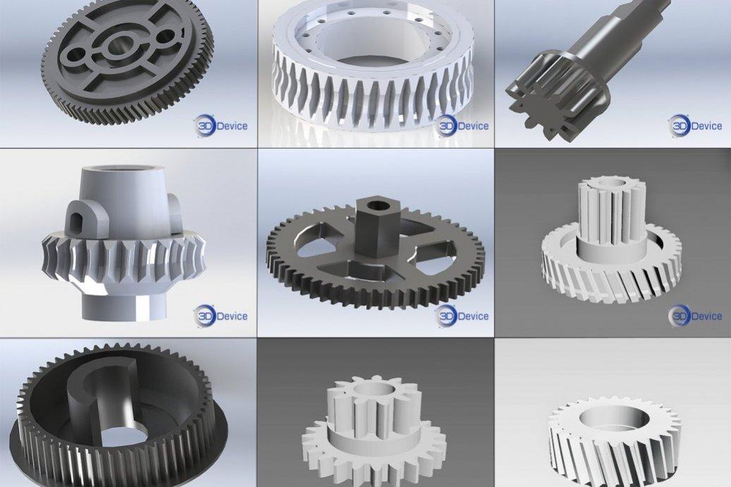 3Д моделирование шестерней