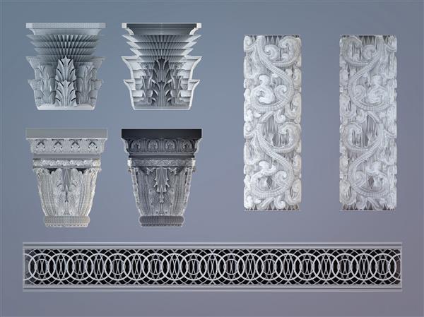 Украшение 3Д печатных колонн