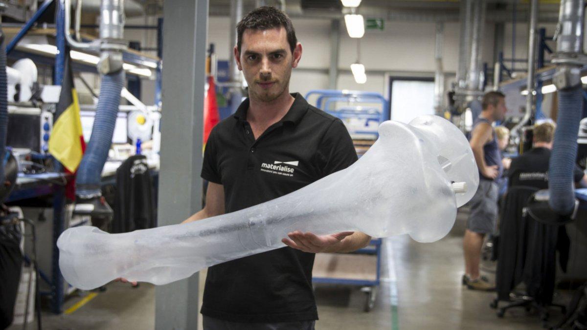 Материализованная 3D печать скелета мамонта