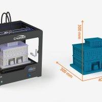 3D принтер CreatBot DE область друку
