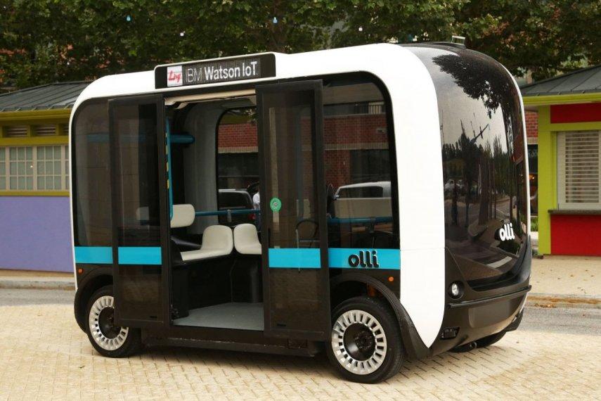 Автономная 3D печать автобуса
