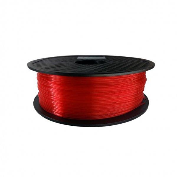 PLA пластик KLEMA прозрачный красный