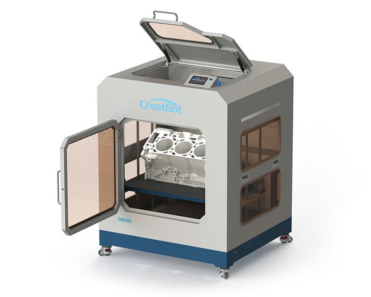 3D принтер CreatBot D600 Pro відкритий