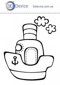 Трафарет кораблик для 3Д ручки