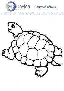 Трафарет черепаха