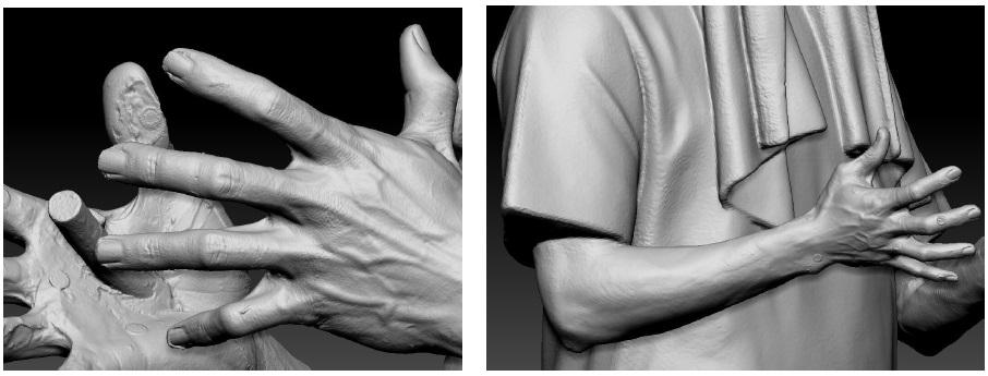ручной 3Д сканер для сканирования человека