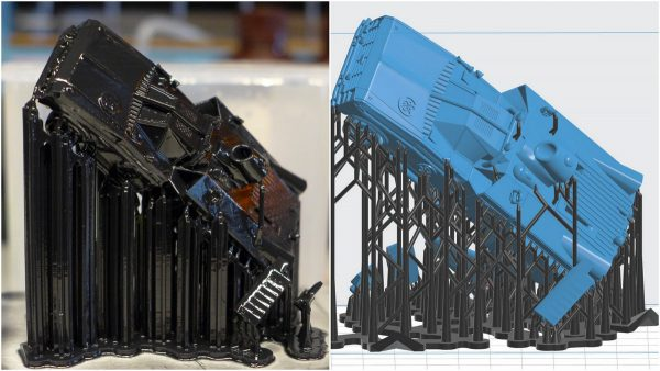 Formlabs Form 2 слои поддержки делорен 3D 3д