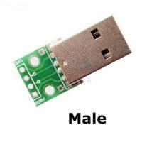 USB male на плате