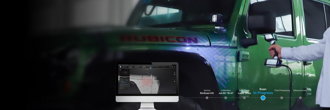 получение облака точек автомобиля 3D-сканер EinScan HX