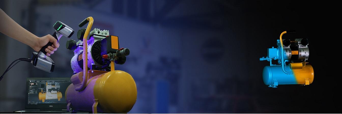 сканирование вместе с 3D-сканером EinScan HX
