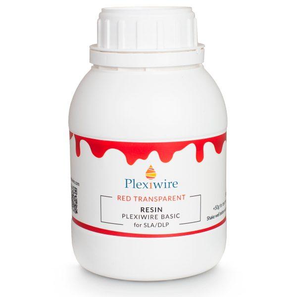 смола Plexiwire resin basic 0.5 кг красный прозрачный