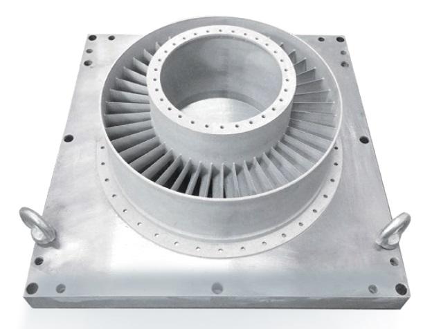 Корпус турбіни двигуна з жароміцного сплаву 3Д друк на EP-M450