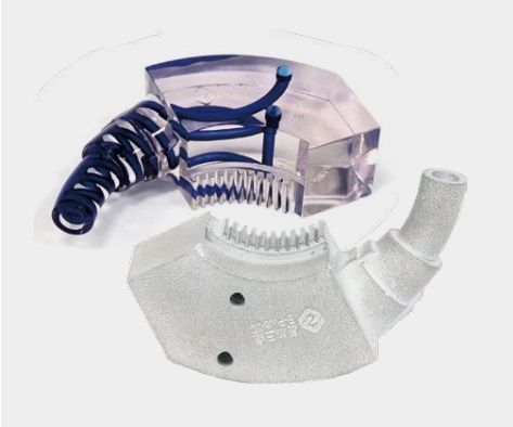 3D-друкована на SLM EP-M250 Pro форма з каналами охолодження, з мартенсітностареючої сталі