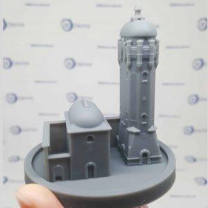 3D печать SLA фотополимеры Black Resin олень